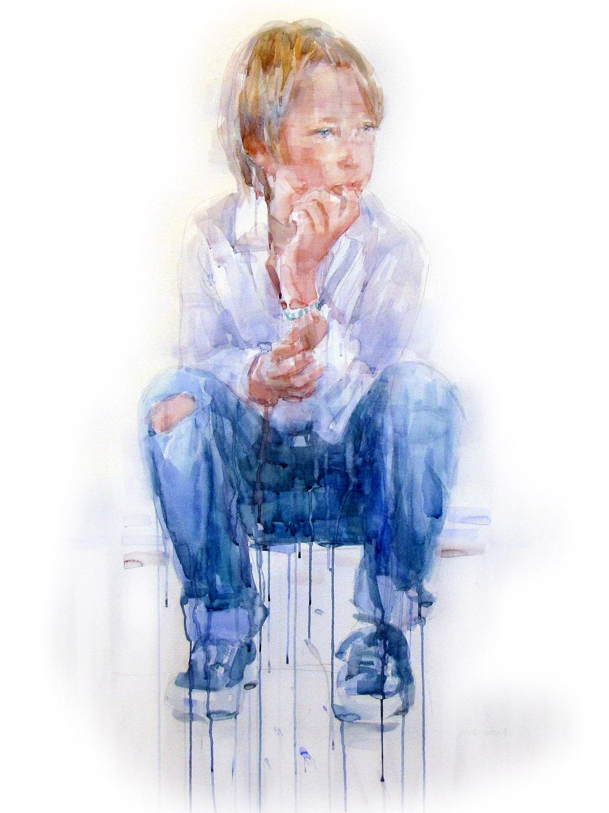 andrea mancini acquerello portrait nicolo alba