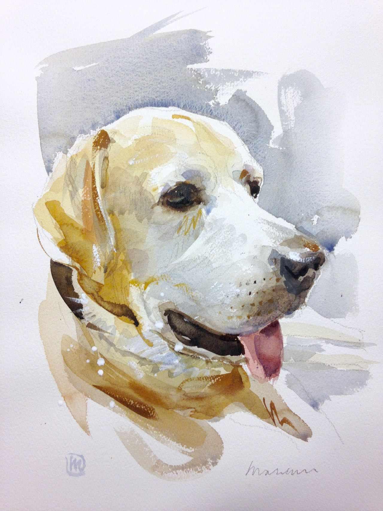 andrea mancini acquerello portrait Jasper