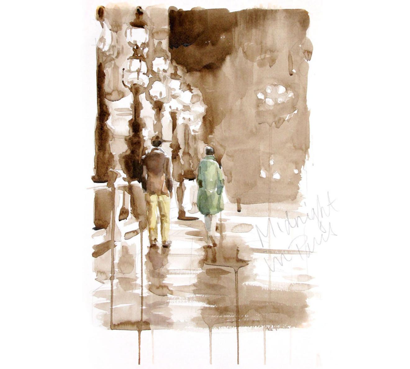 Andrea Mancini watercolor for Massimo Alba 1