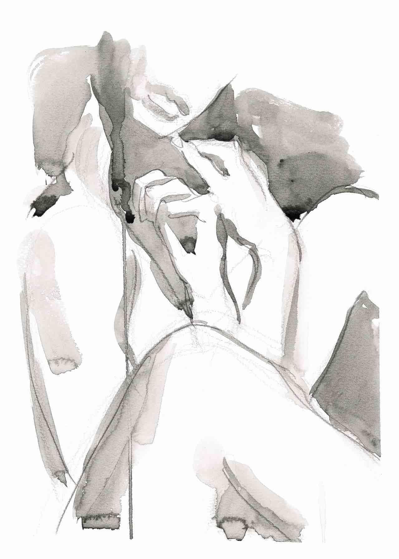 Watercolor accovacciata