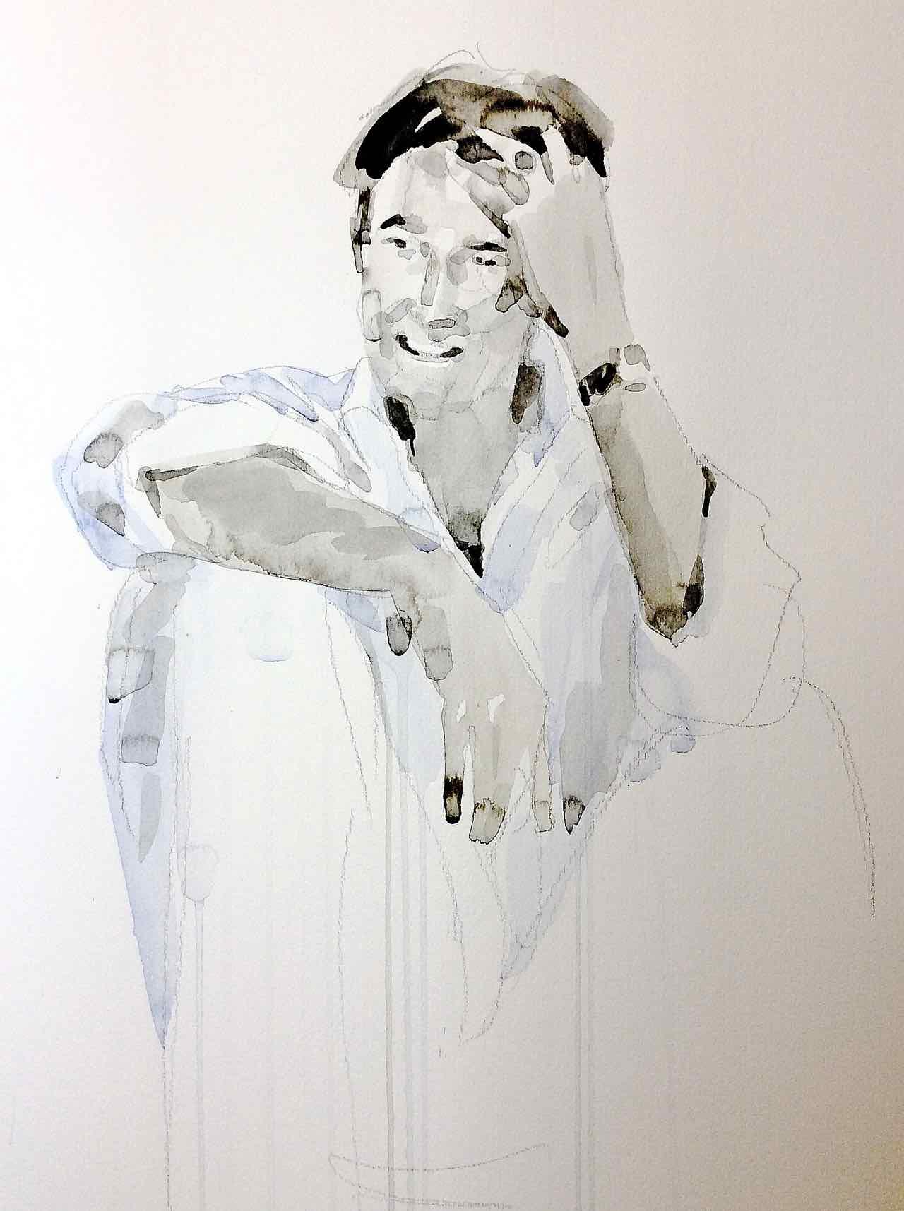 Watercolor invito pitti 2015
