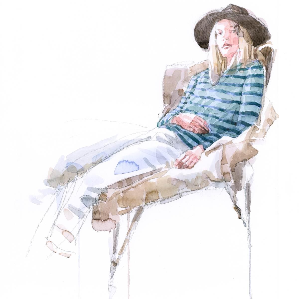 Andrea Mancini acquerello donna 14