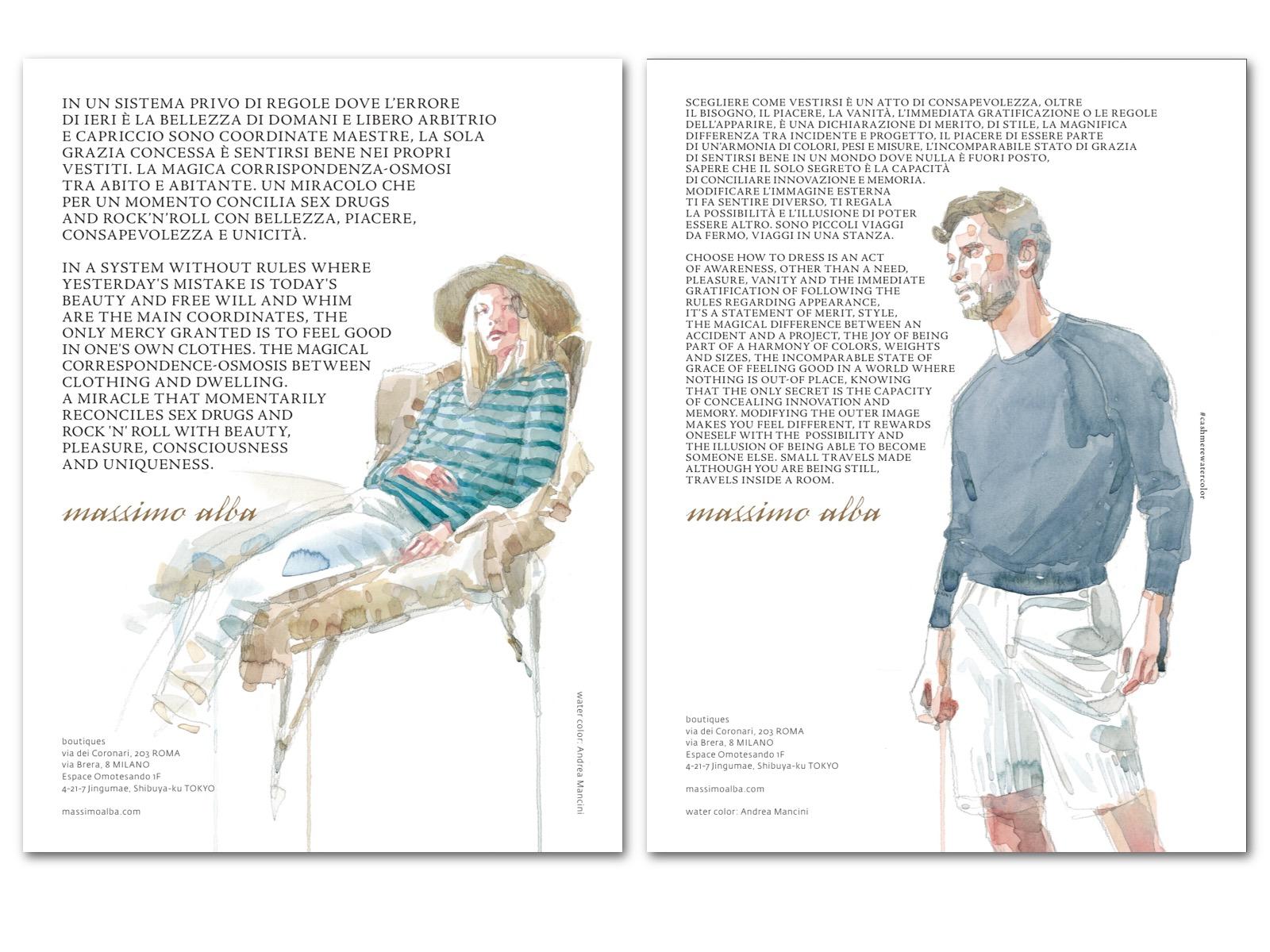 Massimo Alba annuncio pagina soggetti uomo - donna