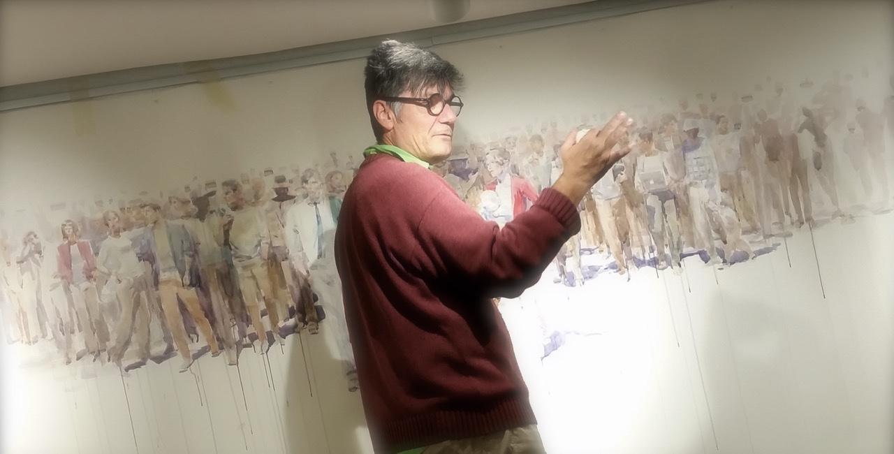 A scuola di pittura con Andrea Mancini
