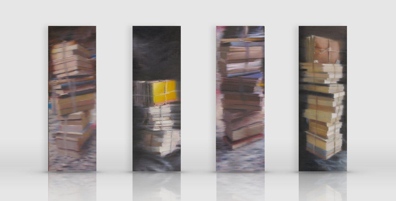 totem dipinti di libri