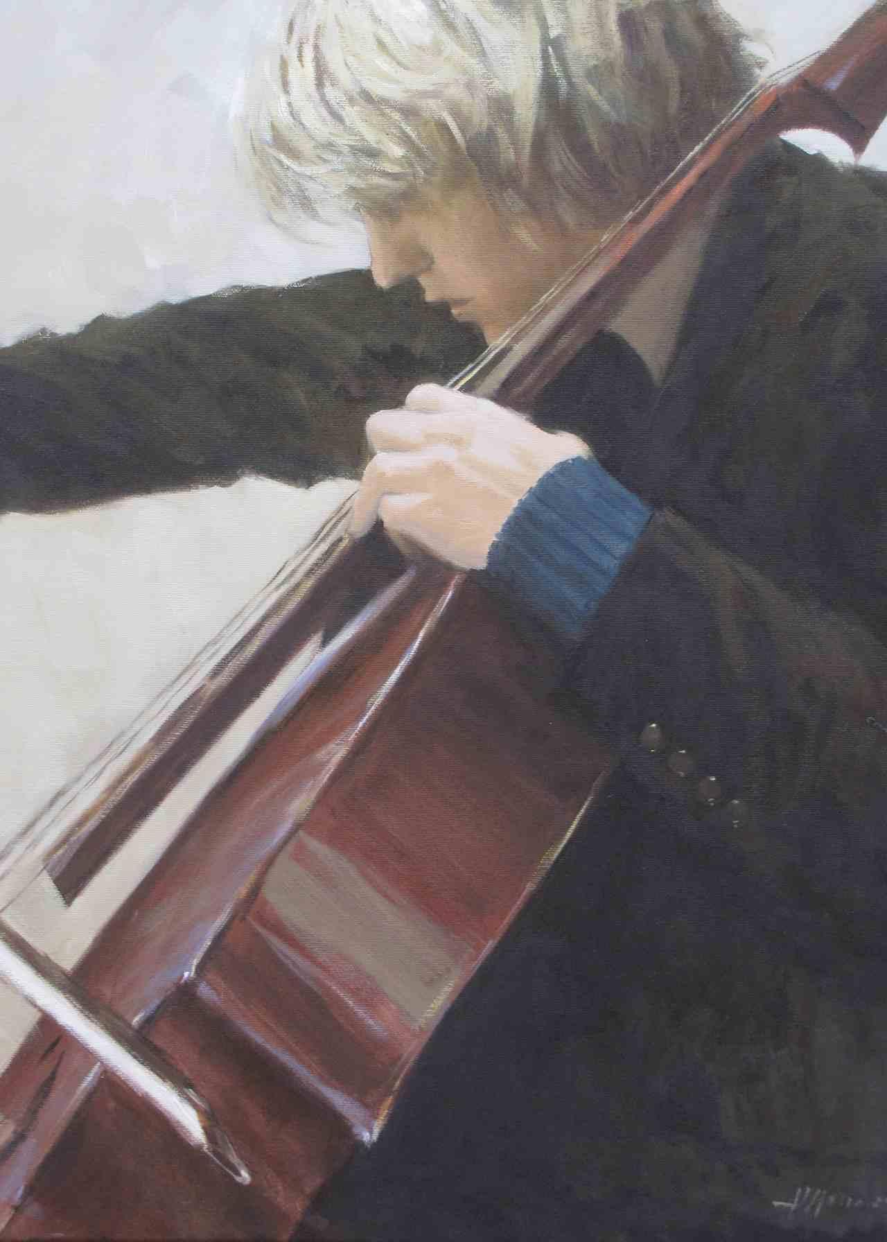 Al violoncello, olio, 60x50 n.1302