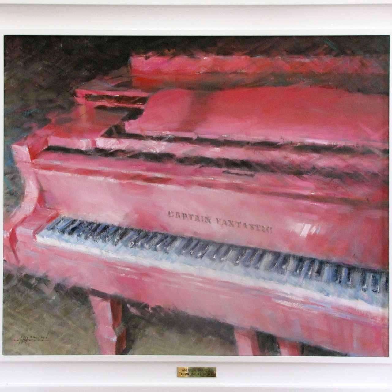 Pianoforte di Elton John, 2011, olio su tela, cm 50x60