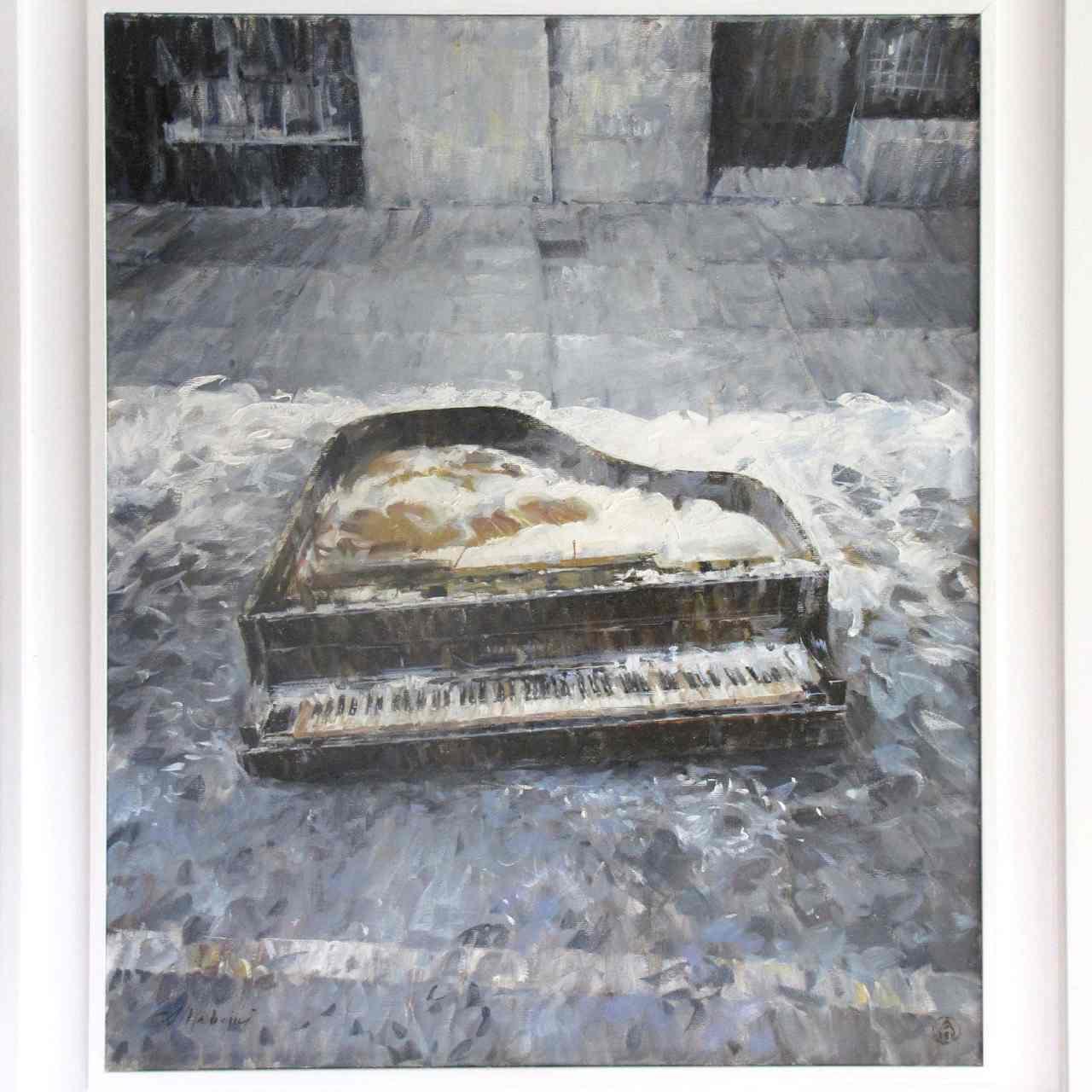 Pianoforte di Ingvar Kamprad, presidente dell'Ikea - 2011, olio, cm 60x50 - nr.960