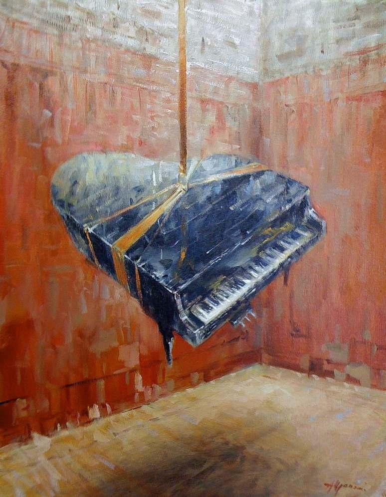 Pianoforte di Salvator Dalì, 2009, olio, cm 40x50 - 1067