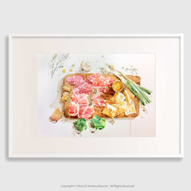 Food watercolor