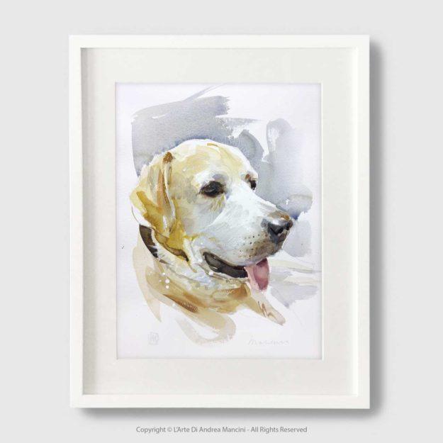 Ritratti dipinti di cani e gatti
